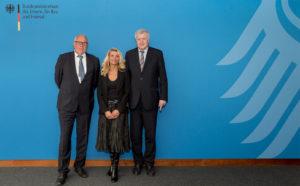 Besuch von Nicole Mondani und Ralf Bender bei Bundesinnenminister Horst Seehofer