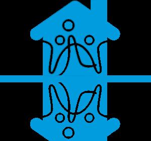 Mini Haus Sozialwerk.Bund in blau