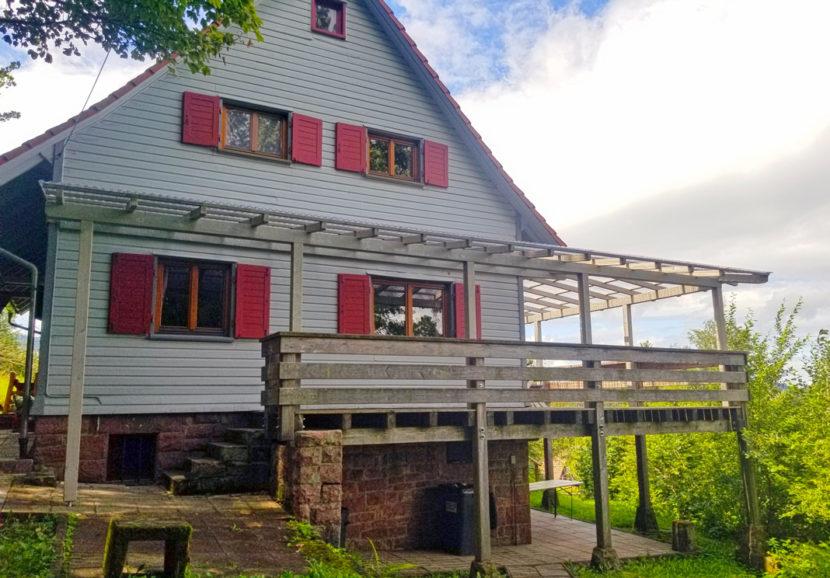 Neue Überdachung der Terrasse in Bad Herrenalb