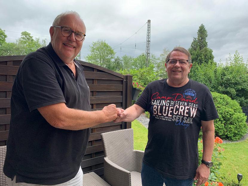 Ralf Bender verabschiedet Udo Weber aus dem Vorstand
