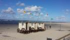 Norderney - Strand mit Umkleidewagen