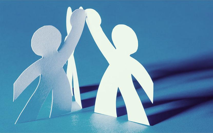 Team Papier Hand in Hand