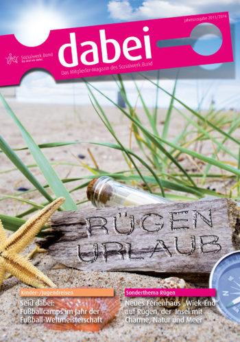 Titelseite des Mitgliedermagazins Dabei - Ausgabe 2013/2014