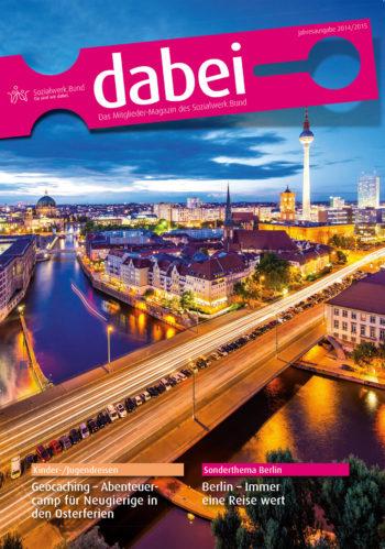 Titelseite des Mitgliedermagazins Dabei - Ausgabe 2014/2015