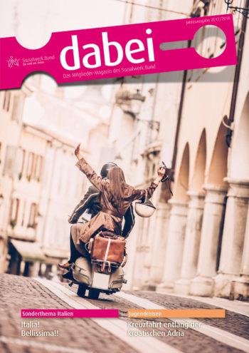 Titelseite des Mitgliedermagazins Dabei - Ausgabe 2017/2018