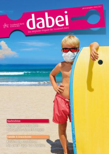 Titelseite des Mitgliedermagazins Dabei - Ausgabe 2020/2021