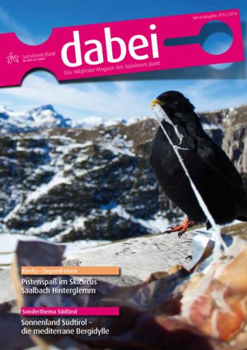 Titelseite des Mitgliedermagazins Dabei - Ausgabe 2015/2016