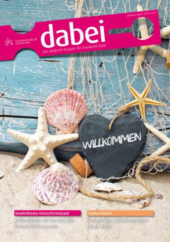 Titelseite des Mitgliedermagazins Dabei - Ausgabe 2016/2017